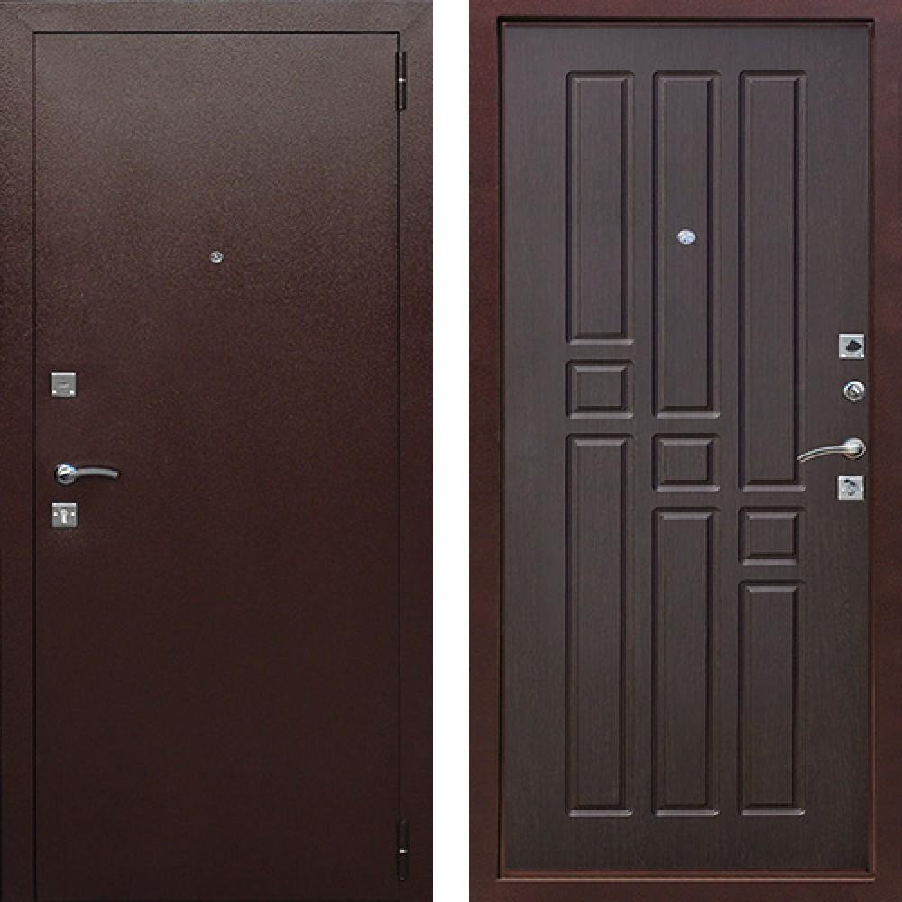 Входная железная дверь в квартиру Цитадель Гарда 6см Венге (Антивандальные)