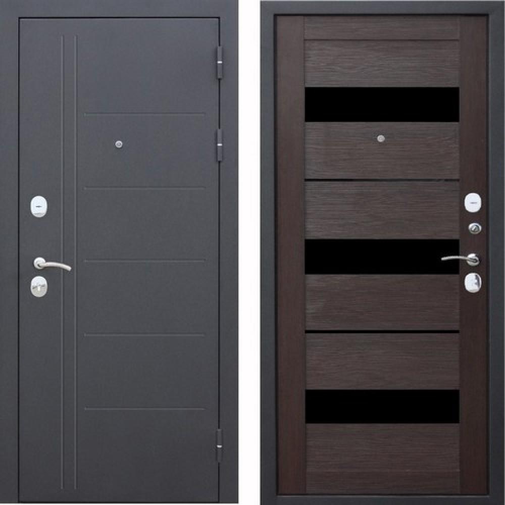 Входная дверь Цитадель Троя Муар 10 см Темный Кипарис (Антивандальные)
