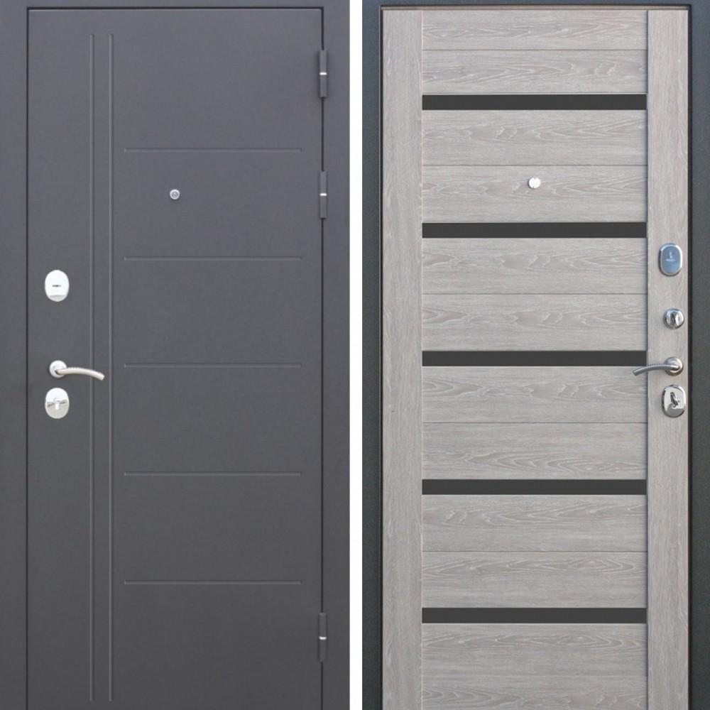 Входная дверь Цитадель Троя 10 см Серебро Дымчатый Дуб (Антивандальные)