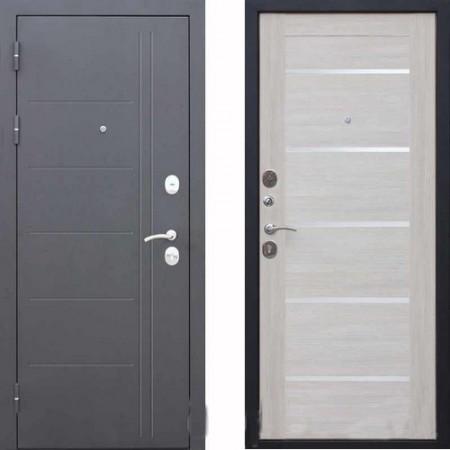 Входная дверь Цитадель Троя 10 см Серебро Лиственница Беж (Антивандальные)