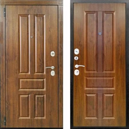 Входная дверь Канцлер 2К Винорит в цвете грецкий орех (с шумоизоляцией)