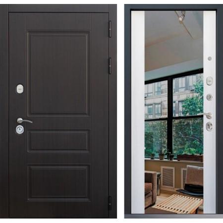 Металлическая дверь Йошкар-Ола CLASSICA 3Z Белая лиственница с зеркалом
