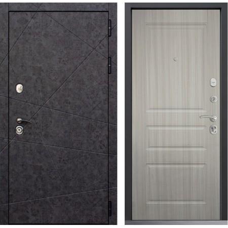 Металлическая дверь Йошкар-Ола GEOMETRIA 02 Белая лиственница