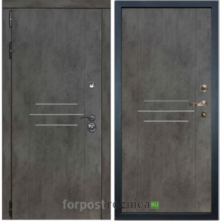 Входная дверь Лекс Сенатор Бетон темный №22 / Бетон темный №82