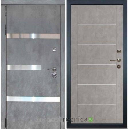 Входная дверь Лекс Сенатор Бетон темный №6 / Бетон серый №80 (светлый)