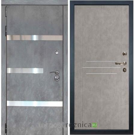 Входная дверь Лекс Сенатор Бетон темный №6 / Бетон серый №81 (светлый)