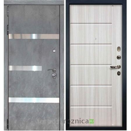 Входная дверь Лекс Сенатор Бетон темный №6 / Сандал белый №42