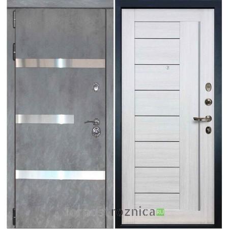 Входная дверь Лекс Сенатор Бетон темный №6 / Беленый дуб №38