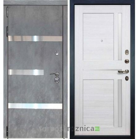 Входная дверь Лекс Сенатор Бетон темный №6 / Беленый дуб №47