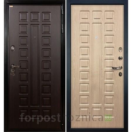 Входная дверь Лекс Гладиатор-3К  Дуб беленый (панель №20)