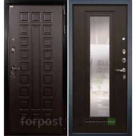 Дверь  Лекс Гладиатор-3К с Зеркалом Венге (панель №22)
