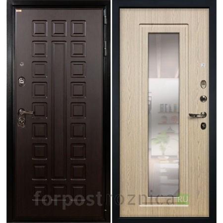 Дверь Лекс Гладиатор-3К с Зеркалом Дуб беленый (панель №23)