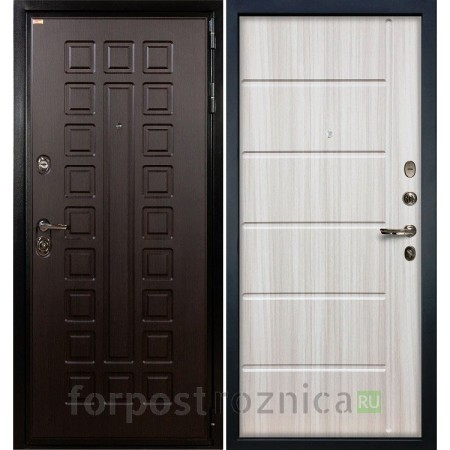 Входная дверь Лекс Гладиатор-3К Сандал белый (панель №42)