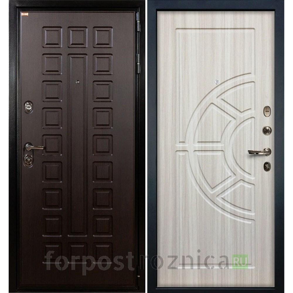 Входная дверь Лекс Гладиатор-3К Сандал белый (панель №44)