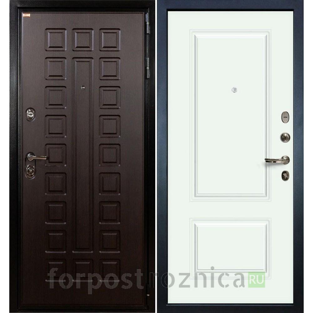 Входная дверь Лекс Гладиатор-3К Вероника-1 Эмаль Белая (панель № 61)
