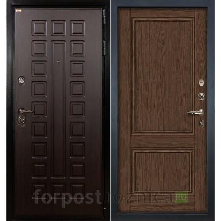 Входная дверь  Лекс Гладиатор-3К Энигма-1 Орех (панель №57)