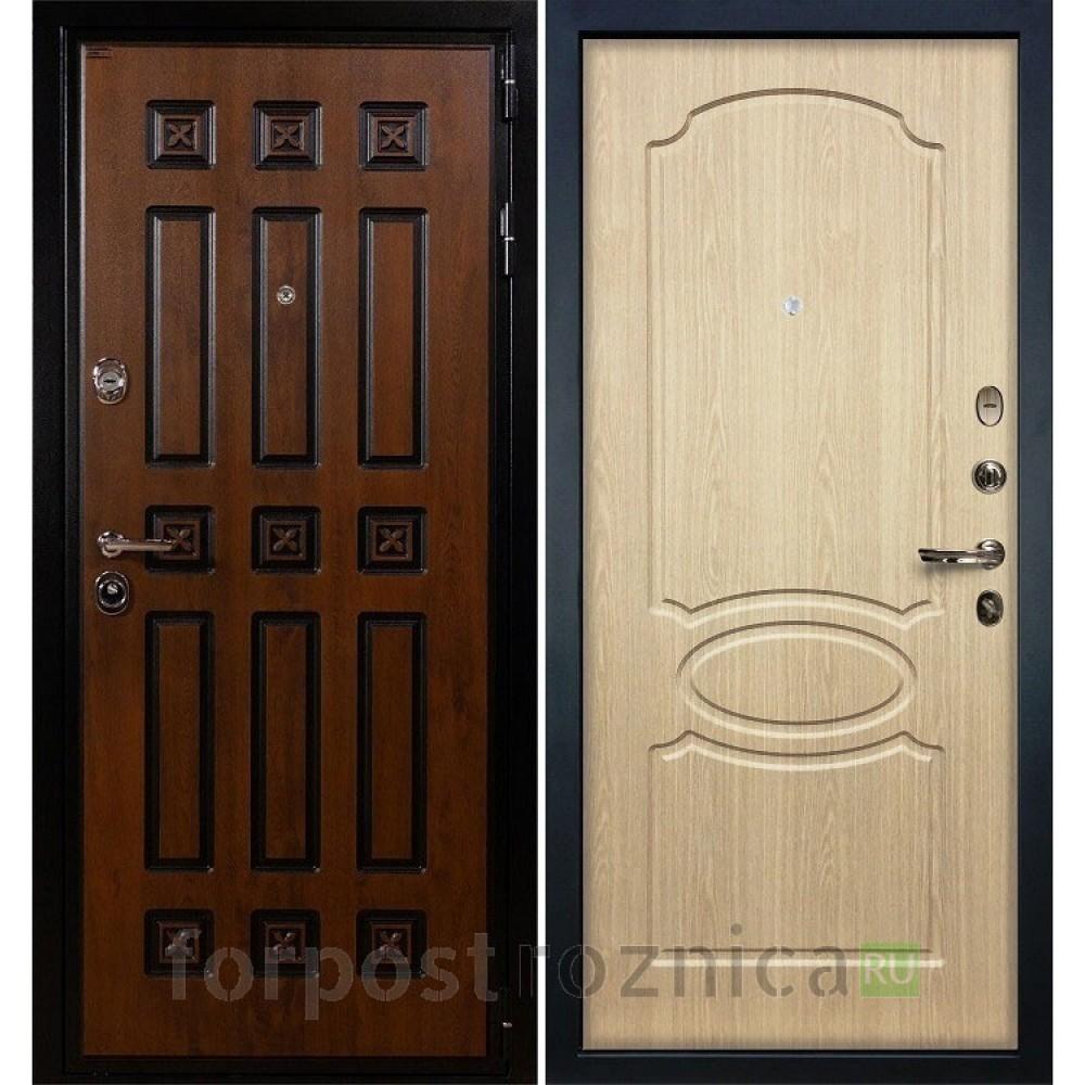 Входная дверь Лекс Гладиатор 3К Винорит Дуб беленый (панель №14)