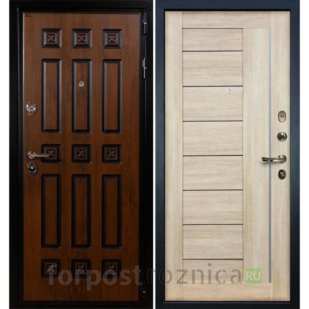 Входная дверь Лекс Гладиатор 3К Винорит Верджиния Ясень кремовый (панель №40)