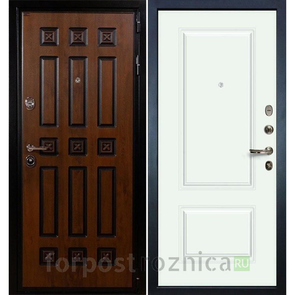 Входная дверь Лекс Гладиатор 3К Винорит Вероника-1 Эмаль Белая (панель №55)