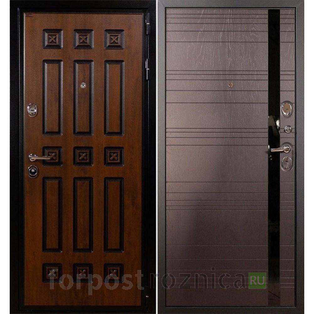 Входная дверь Лекс Гладиатор 3К Винорит Ясень шоколад (панель №31)