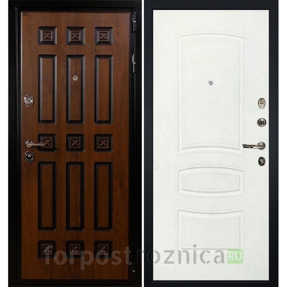 Входная дверь Лекс Гладиатор 3К Винорит Белая шагрень (панель №68)