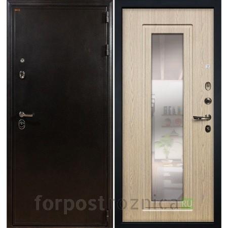 Входная дверь Лекс Колизей с Зеркалом Дуб беленый (панель №23)