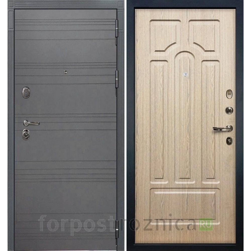 Входная дверь  Лекс Легион 3К Софт графит / Дуб беленый (панель №25)