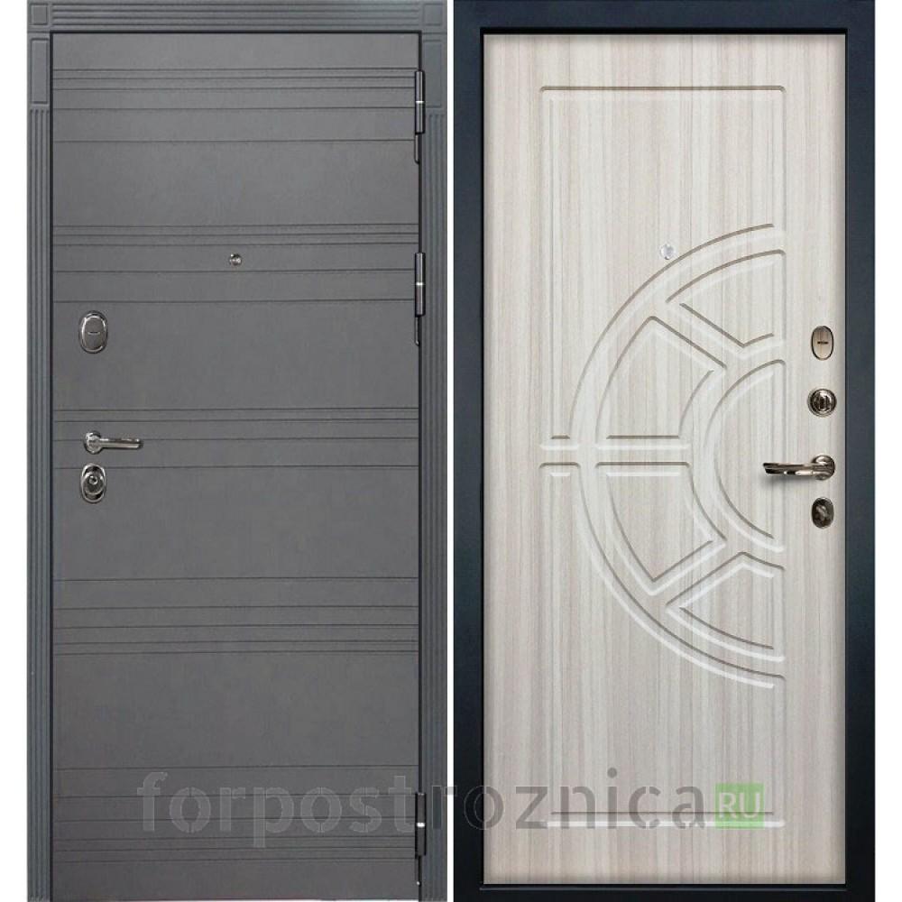 Входная дверь Лекс Легион 3К Софт графит / Сандал белый (панель №44)