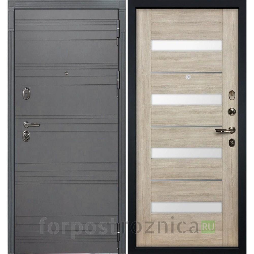 Входная дверь  Лекс Легион 3К Софт графит / Сицилио Ясень кремовый (панель №48)