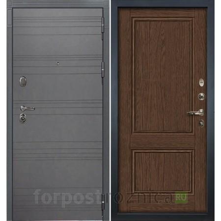 Входная дверь  Лекс Легион 3К Софт графит / Энигма-1 Орех (панель №57)