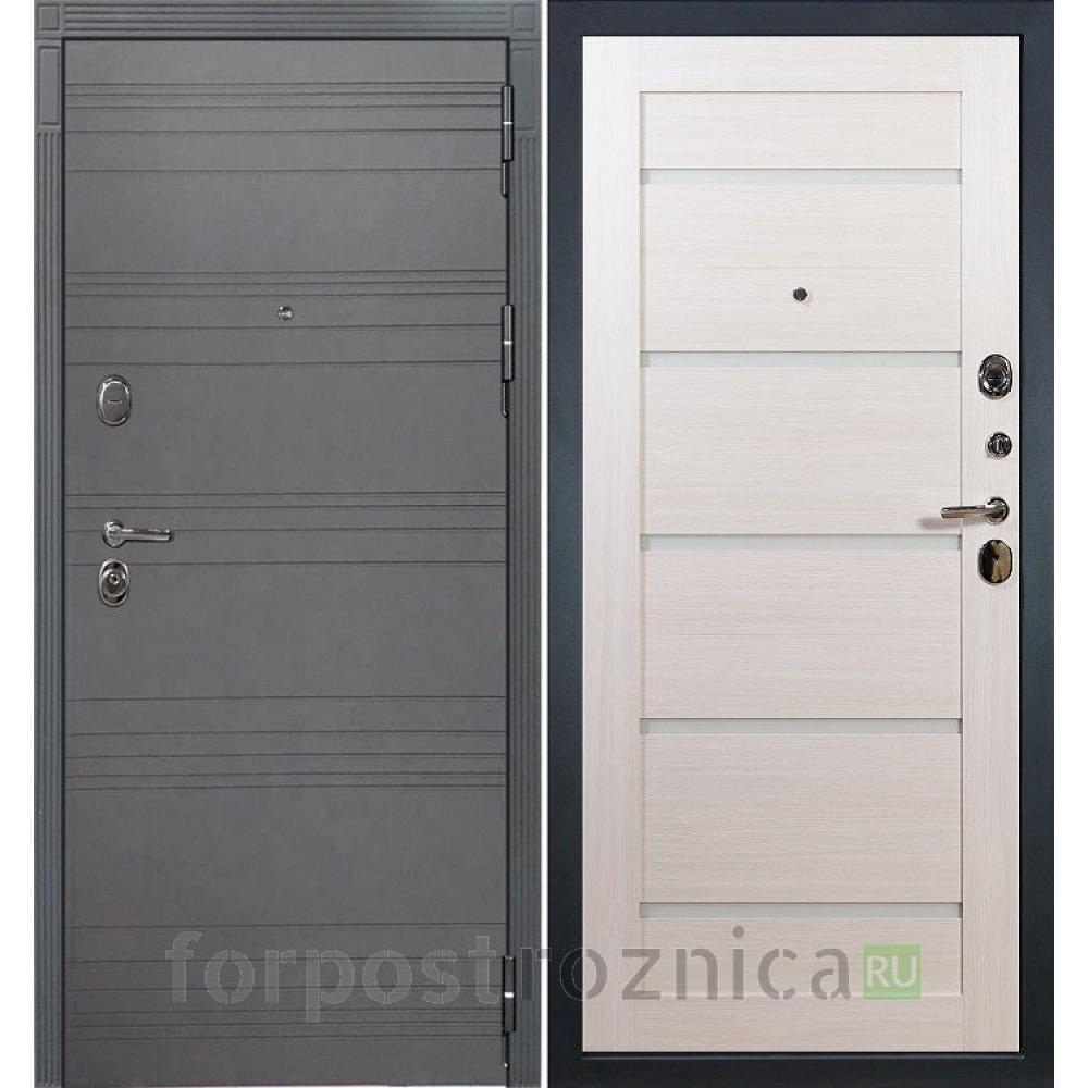 Входная дверь Лекс Легион 3К Софт графит / Клеопатра-2 Дуб беленый (панель №58)