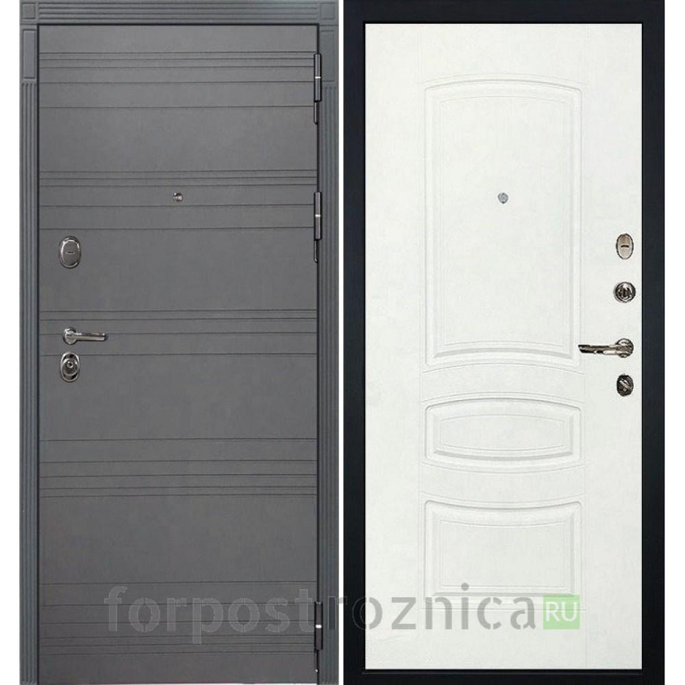Входная дверь Лекс Легион 3К Софт графит / Белая шагрень (панель №68)
