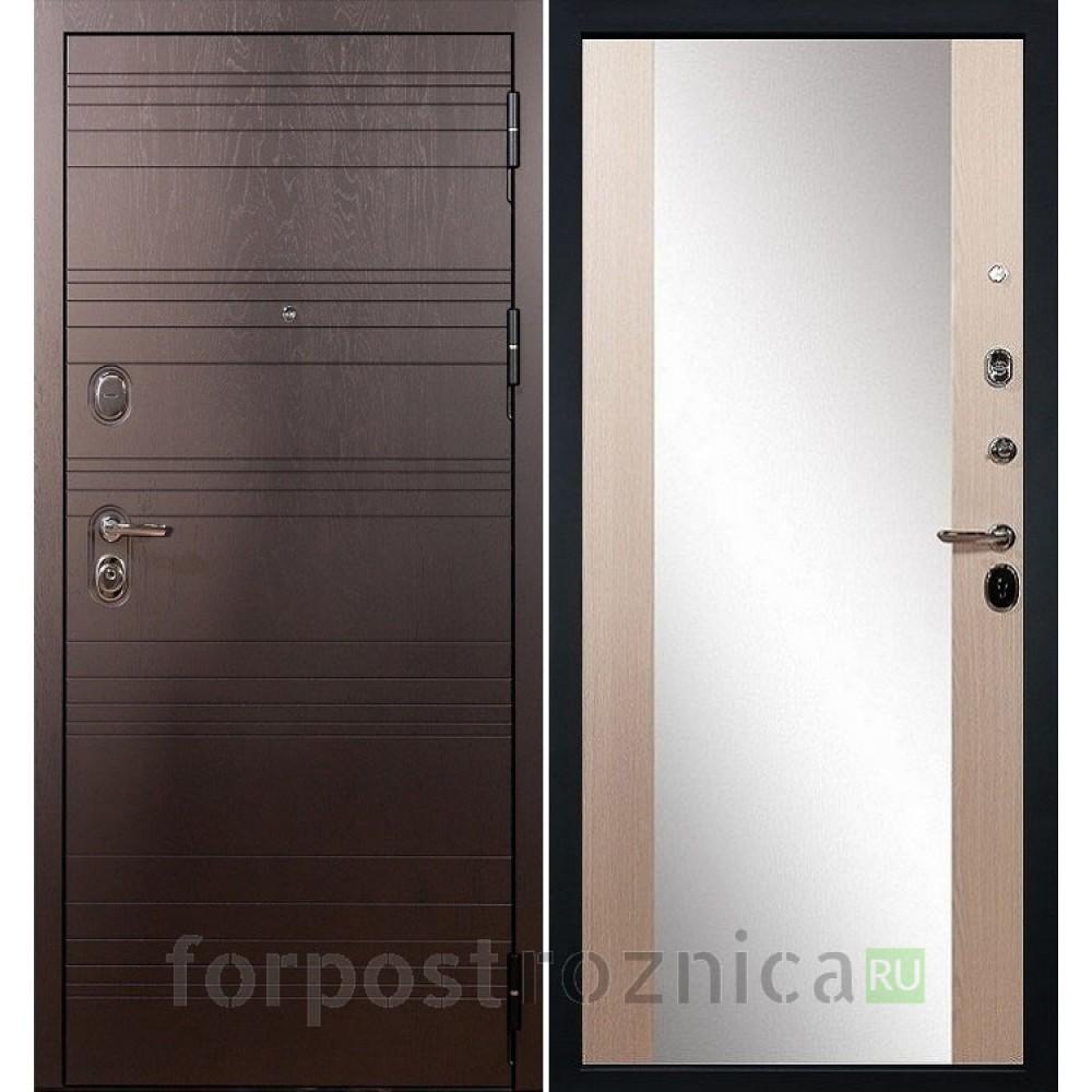 Входная дверь Лекс Легион 3К Стиль с Зеркалом Дуб беленый (панель №45)