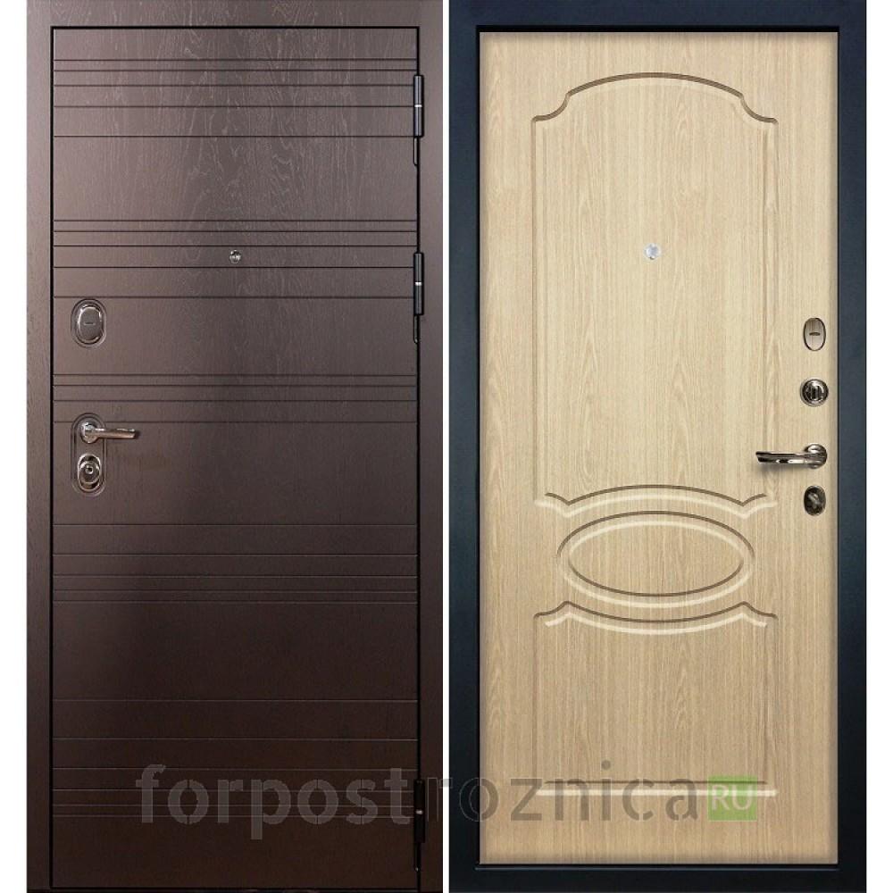 Входная дверь Лекс Легион 3К Дуб беленый (панель №14)