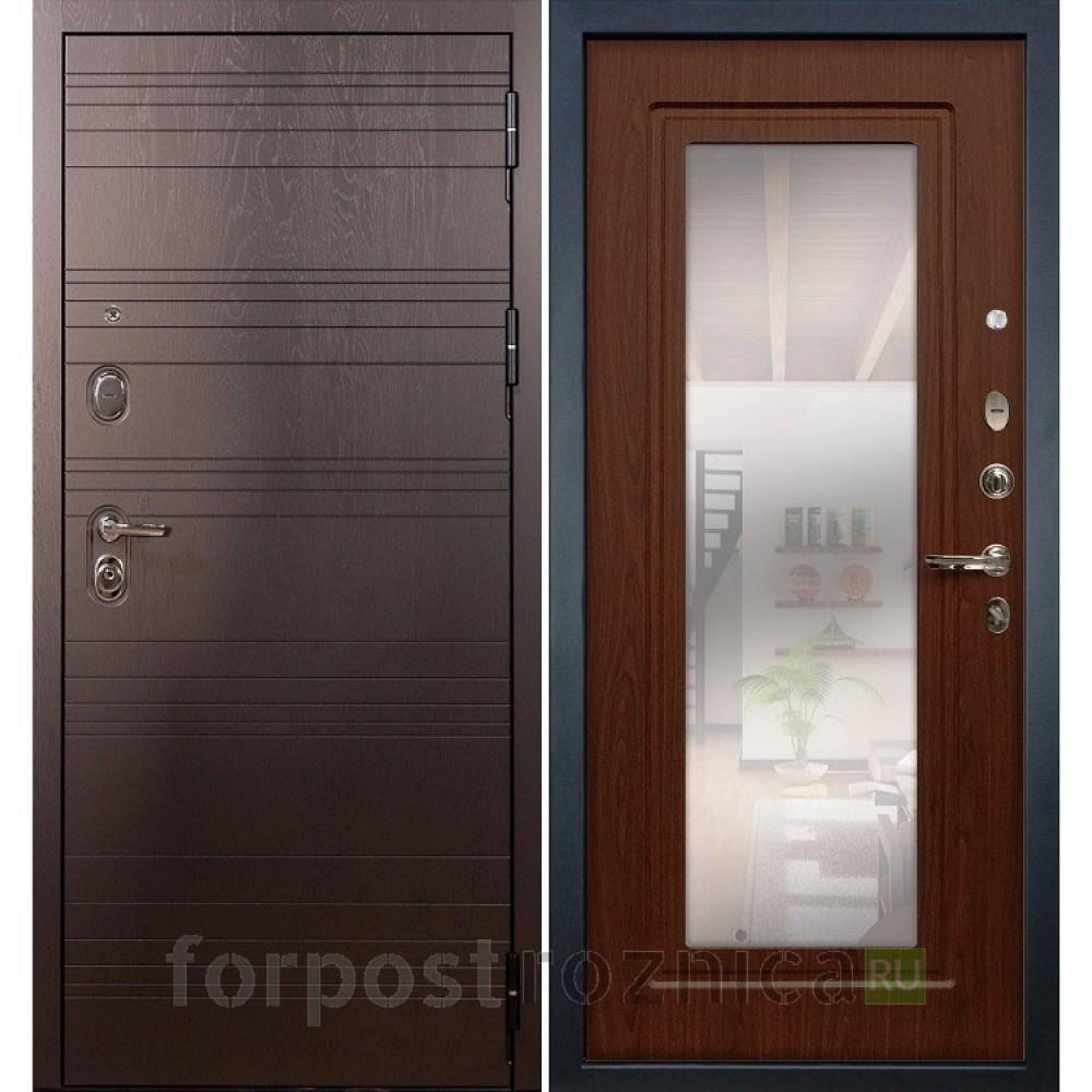 Входная дверь Лекс Легион 3К с Зеркалом Береза мореная (панель №30)