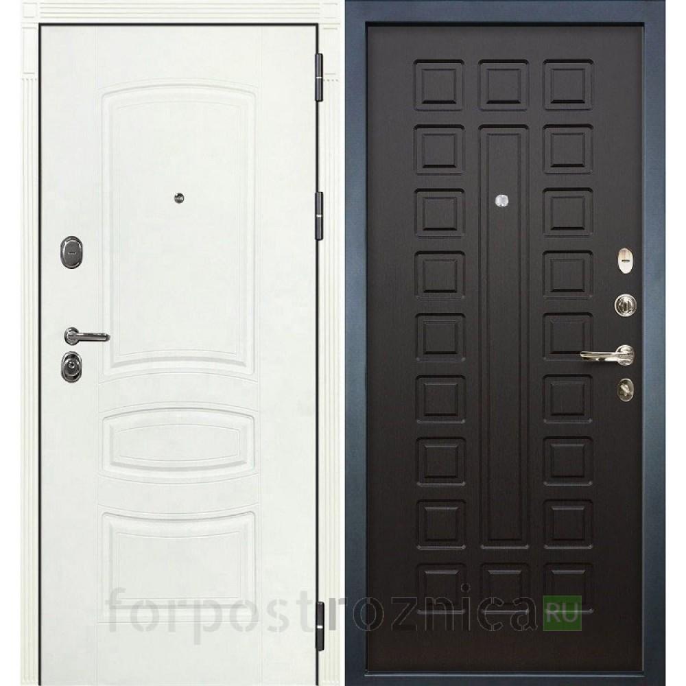 Входная дверь Лекс Легион 3К Шагрень белая / Венге (панель №21)
