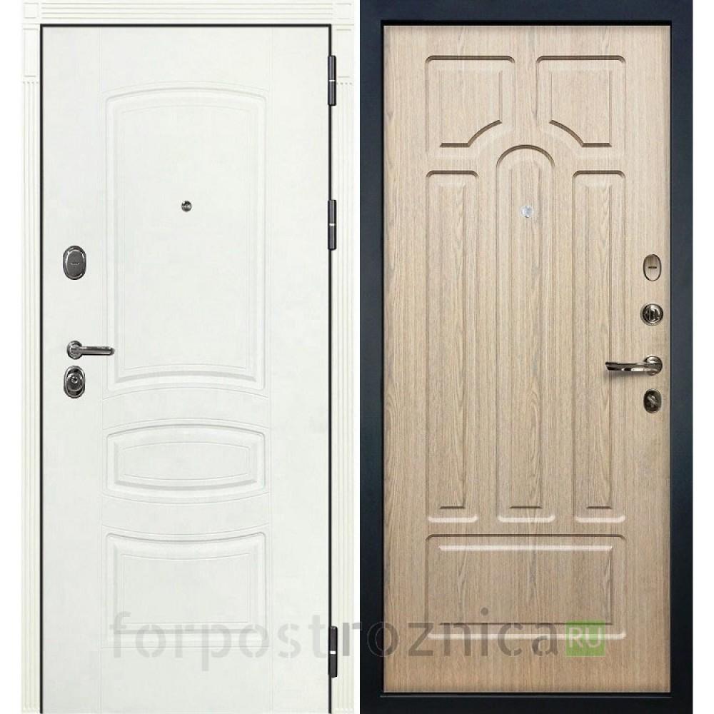 Входная дверь Лекс Легион 3К Шагрень белая / Дуб беленый (панель №25)
