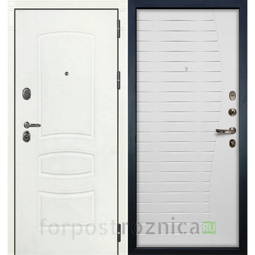 Входная дверь Лекс Легион 3К Шагрень белая / Ясень белый (панель №36)