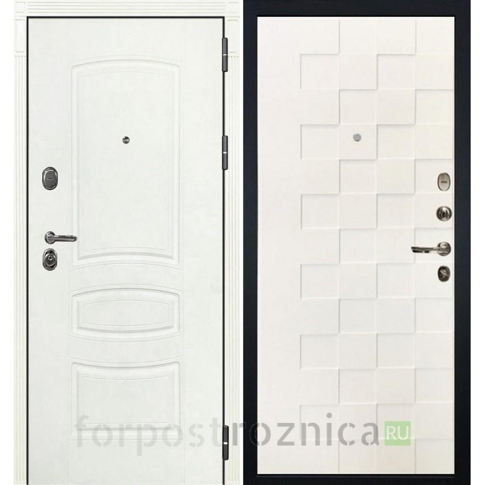 Входная дверь Лекс Легион 3К Шагрень белая / Шагрень белая Квадро (панель №71)