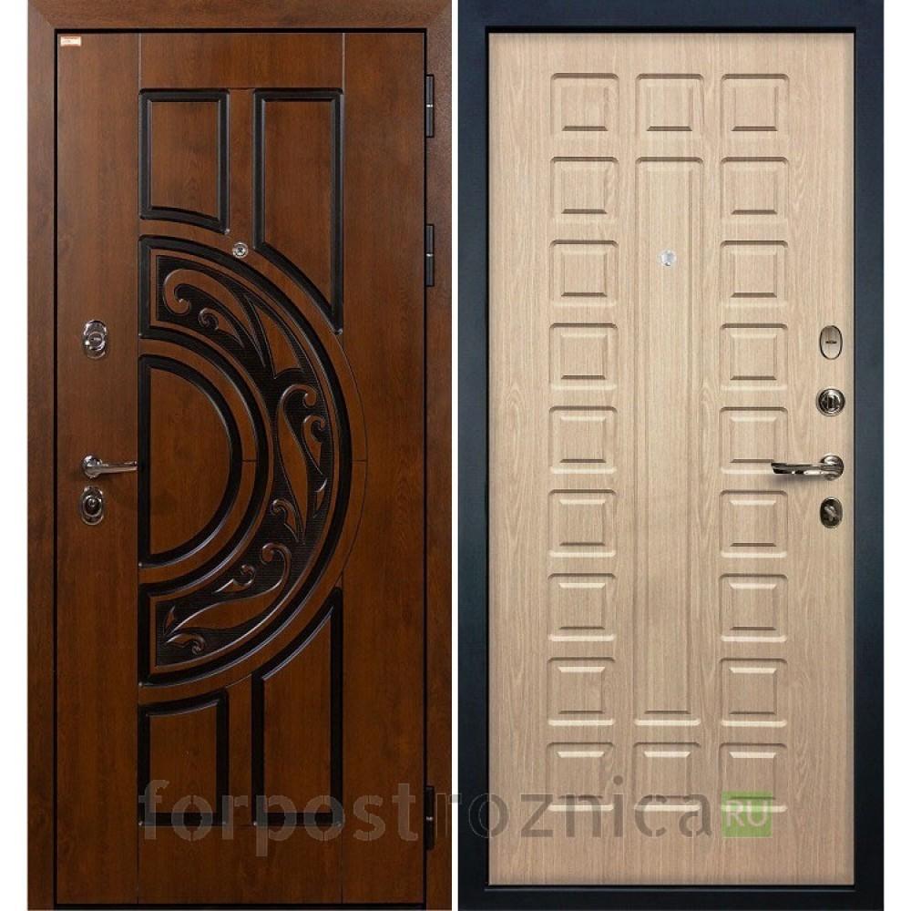 Входная дверь Лекс Спартак Cisa Дуб беленый (панель №20)