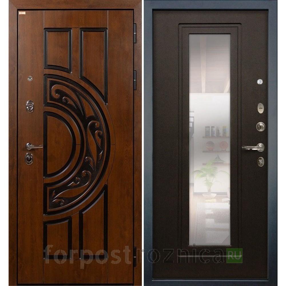 Входная дверь Лекс Спартак Cisa с Зеркалом Венге (панель №22)