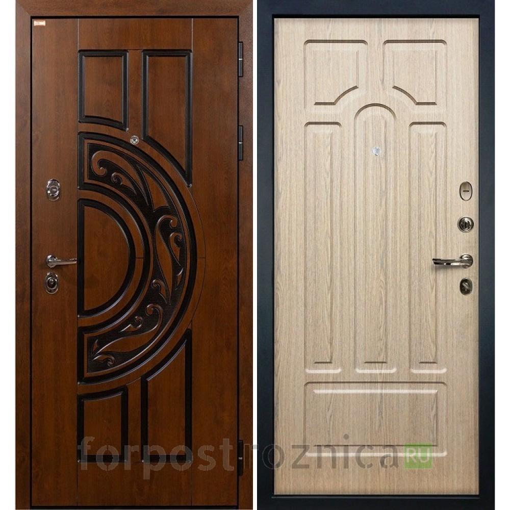 Входная дверь Лекс Спартак Cisa Дуб беленый (панель №25)