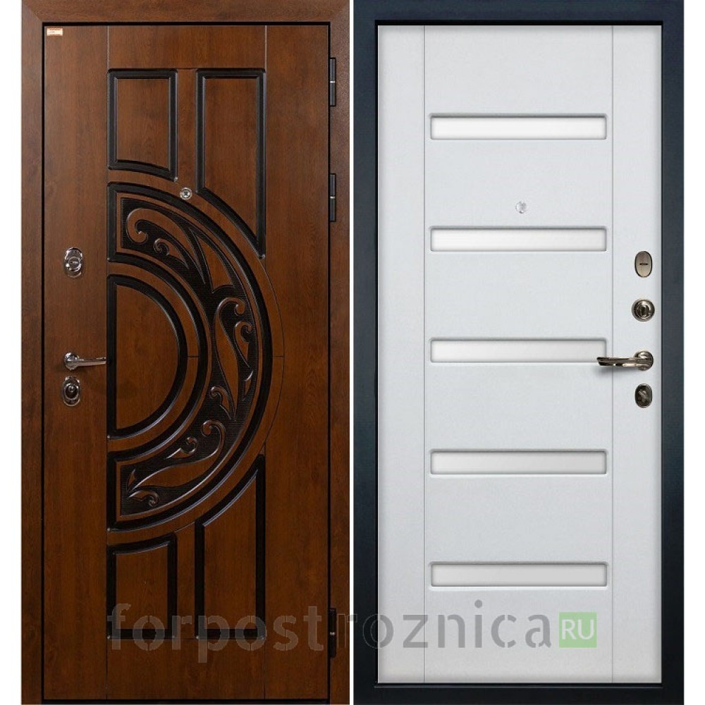 Входная дверь Лекс Спартак Cisa Ясень белый (панель №34)