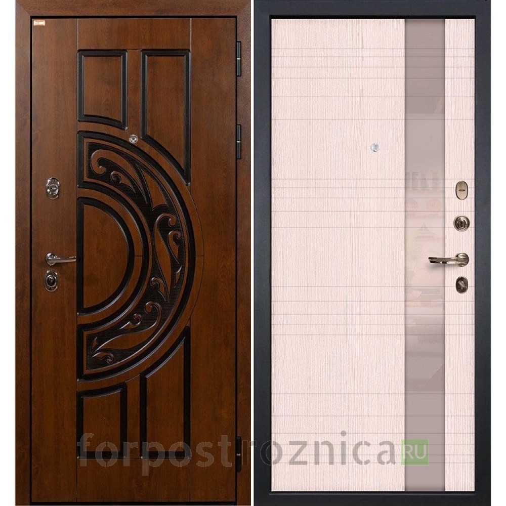 Входная дверь Лекс Спартак Cisa Новита Дуб беленый (панель №52)