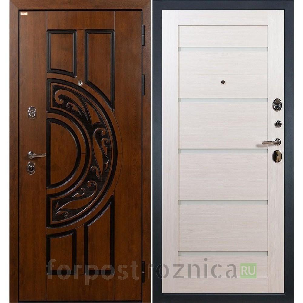 Входная дверь Лекс Спартак Cisa Клеопатра-2 Дуб беленый (панель №58)