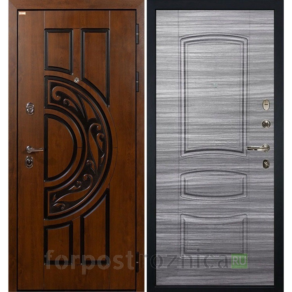 Входная дверь Лекс Спартак Cisa Сандал серый (панель №69)