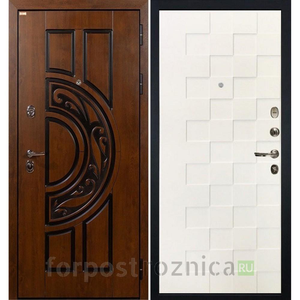 Входная дверь Лекс Спартак Cisa Белая шагрень Квадро (панель №71)