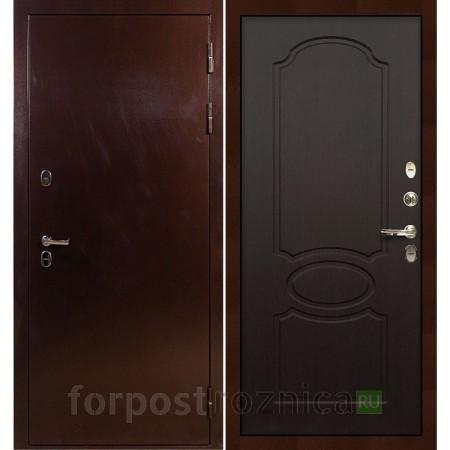 Входная дверь с терморазрывом  Лекс Термо Сибирь 3К Венге (панель №13)