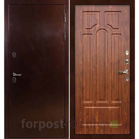 Входная дверь с терморазрывом Лекс Термо Сибирь 3К Береза мореная (панель №26)