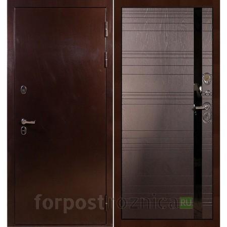 Входная дверь с терморазрывом Лекс Термо Сибирь 3К Ясень шоколад (панель №31)